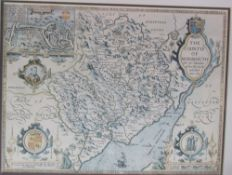 A copy of a John Speede map of The Countye of Monmouth