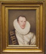 William Derby (1786 - 1847) Portrait of Philip Howard, Earl of Arundel, in large ruff Inscribed