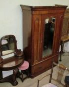 A Victorian mahogany wardrobe together with a Victorian Duchess dressing table and a stool