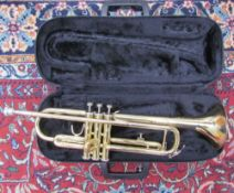 A Jupiter brass trumpet, No. JTR-300, cased