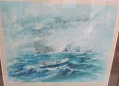 After Ben Maile In Face of Danger A limited edition print No 8/600 Signed in pencil to the margin 53