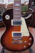 A Rockburn Les Paul six string electric guitar