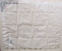 An early 18th century Indenture, dated 31st July 1704, in the reign of Queen Anne, framed and