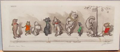 After Boris O'Klein Chacun Son Tour A print mounted onto board Signed and inscribed in pencil
