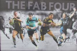 The Fab Four A photographic image of Lee Byrne, Shane Williams, Mike Phillips and James Hook