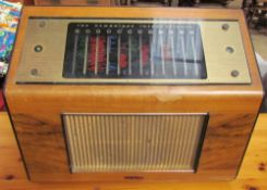 ''The Cambridge International'' Pye walnut cased radio