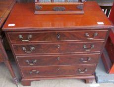 A George III style mahogany chest,