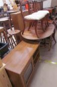 A 20th century oak gateleg dining table,
