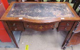 An Edwardian rosewood desk,