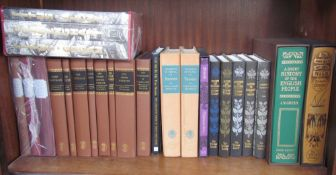 A collection of Folio Society books including A Short History of the English People,