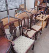 A George III mahogany elbow chair,