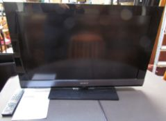 "A Sony Bravia 32"" flat screen television, model number KDL-32EX703 (Sold as seen,"
