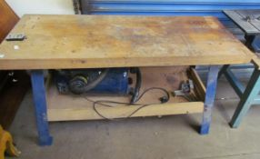 A work bench together with a Record DX2000 dust extractor (Sold as seen,