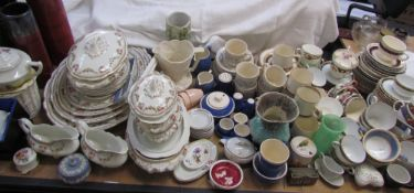 A large lot including a John Maddocks and Son Victoria pattern part dinner set,