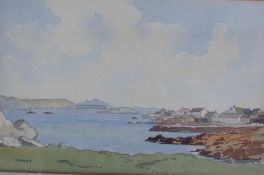 J Herriot Coastal scene Watercolour Signed Together with a large quantity of paintings,
