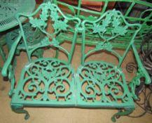 A two seater garden bench,