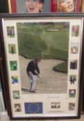 Colin Montgomery Action shot photograph Signed Together with a Kylie Minogue montage,