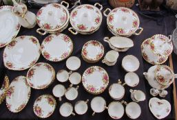 A Royal Albert Old Country Roses pattern part tea and dinner service
