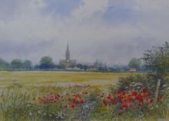 Bill Toop Poppies Watercolour Signed Together with a large quantity of watercolours and prints