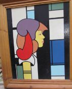 Bryan Gibbons A Lady's head in profile Oil on board Signed and dated 2008 Together with a