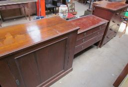 An Edwardian mahogany dressing chest together with a Victorian mahogany chest of drawers,