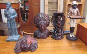 Three Balinese carvings,
