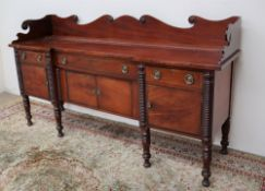 A late Regency mahogany sideboard,