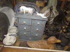 A brass cased carriage clock together with horse brasses, pewter plates, pewter teapots,
