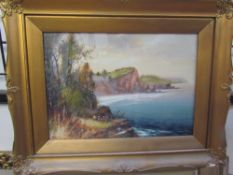M T Cole A coastal scene Watercolour Signed Together with another by the same hand and a quantity