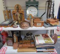 Bryan Gibbons - picture frames, clocks, boxes etc, together with a copper jelly mould, fire irons,