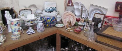 A Royal Doulton figure Wedding vows together with other porcelain figures, Japanese part tea sets,