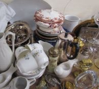 A Royal Doulton Pastoral pattern part tea set together with electroplated wares, bangles,