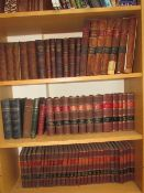A collection of leather bound books relating to the mining industry,