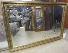 A rectangular gilt wall mirror,