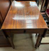 A Victorian mahogany Pembroke table,