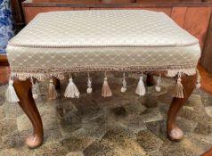 An early 20th oak stool,