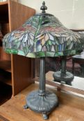 A Tiffany style table lamp,