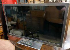 """A Panasonic 37"""" LCD television, Model NO."""