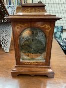 A Gustav Becker bracket clock, with a domed top,