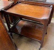 A George III style mahogany tea trolley,