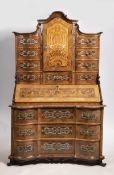 ROCOCO TABERNACLE Kolem 1760 Germany walnut, maple, ebony, cherry wood, gilded bronze, ivory, tin