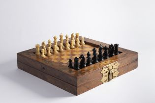 BAROQUE PLAYING SET Kolem 1750 Central Europe Horn, walnut, stained maple, bubingo, mahogany, gilded