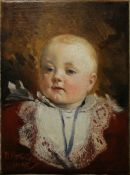 JAN VÁCLAV MRKVIČKA 1856 - 1938: PORTRAIT OF BORIS III. 1895 Oil on canvas 31,5 x 23 cm Signed: