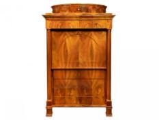 BIEDERMEIER CABINET Kolem 1830 Central Europe walnut, maple, blackened pear wood, brass 177 x 109
