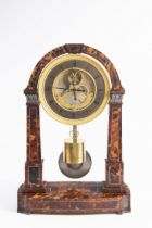 REGULATOR TABLE CLOCK Kolem 1840 Austria Wien tortoiseshell, silver, gilded guilloche brass,