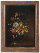 JAN KAŠPAR HIRSCHELY 1695 - 1743: PAIRED FLORAL STILL LIFES First half of 18th century Oil on wood
