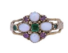 ANTIQUE OPAL AND GEMSTONE RING