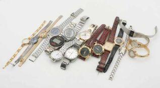 Armbanduhrenca. 13 St., Junghans, Pallas u.a., tlw. besch., tlw. unvollst.- - -20.00 % buyer's