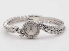 Jaeger le Coultre - DamenarmbanduhrWG 18K, feine u. sehr hochwertige Vintage Damenuhr, Uhrengehäuse,