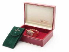 Rolex - HerrenarmbanduhrSchweiz, GG 750, Chronometer, Day Date Oysterquartz, rundes Gehäuse, Dca.3,